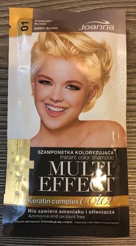 01 Sandy Blond - Joanna Multi effect sävyttävä shampoo