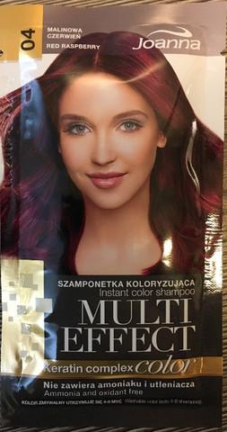 04  Red Raspberry - Joanna Multi effect sävyttävä shampoo