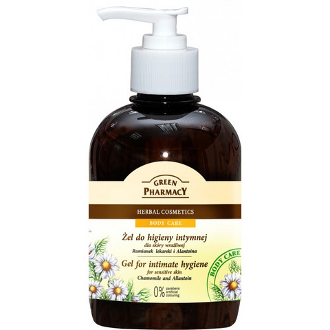 Green Pharmacy Gel for intimate hygiene for sensitive skin CHAMOMILE and ALLANTOIN 370 ml