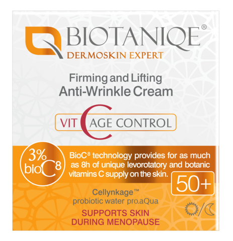 Biotaniqe VitaC 50+ Kiinteyttävä & Liftaava anti-wrinkle päivä/yövoide 50 ml