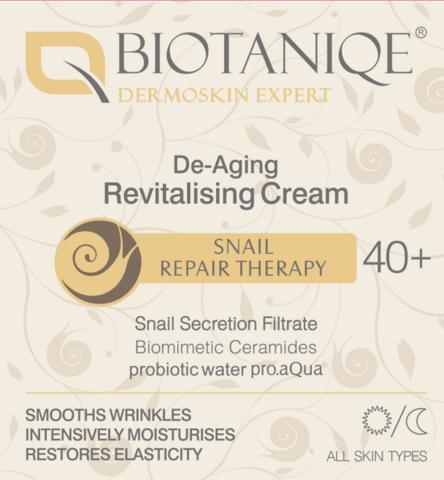 Biotaniqe 40+ Snail Elvyttävä Etana päivä/yövoide ikääntymistä vastaan 50ml