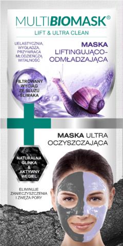 Lift&Ultra Clean Mask naamio ikääntyneelle epäpuhtaalle iholle 2x5 ml