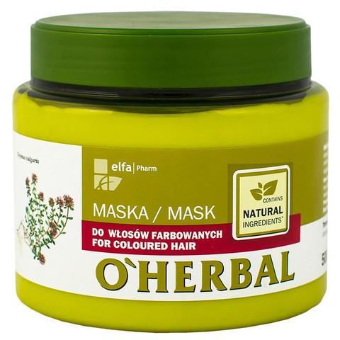 O'Herbal Hiusnaamio värjätyille hiuksille 500ml