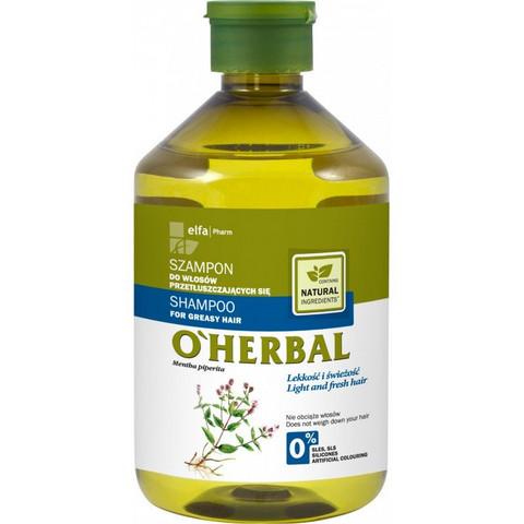 O'Herbal Shampoo rasvoittuville hiuksille 500ml