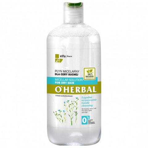 O' Herbal Micellar puhdistusvesi - kuiva iho 500ml