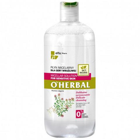 O' Herbal Micellar puhdistusvesi - herkkä iho 500ml