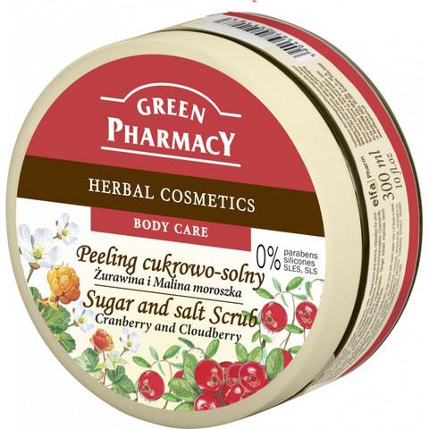 Green Pharmacy - Sugar and Salt vartalonkuorinta - Karpalo & lakka 300ml