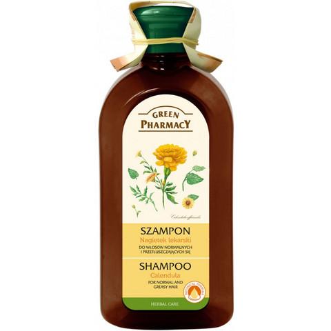 Green Pharmacy Kehäkukkashampoo normaaleille ja rasvoittuville hiuksille 350ml