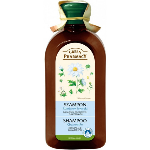 Green Pharmacy Kamomilla shampoo hauraille ja vaurioituneille hiuksille 350ml