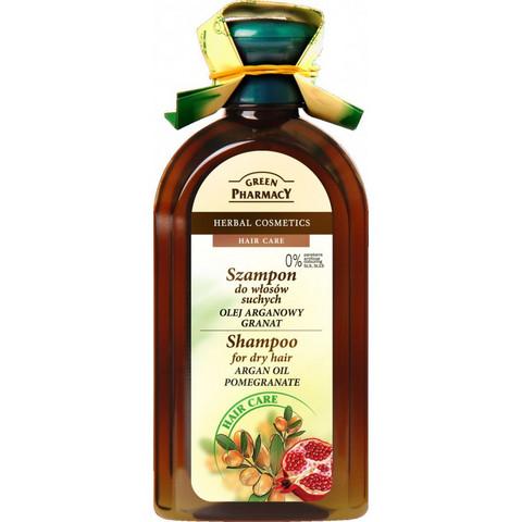 Green Pharmacy Argan & Granaattiomena shampoo kuiville hiuksille 350ml