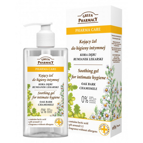 Green Pharmacy Gel for intimate hygiene Oak Bark Chamomile 300ml