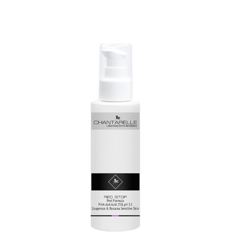 RED STOP Peel Formula PHA-AzA Acid 25% pH 3.5 Couperose & Rosacea Sensitive Skin 100ml
