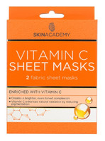 Skin Academy C-vitamiini Sheet Mask 2 kasvonaamiota