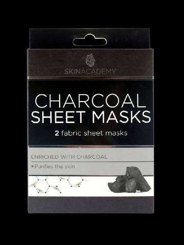 Skin Academy Hiili Sheet Mask 2 kasvonaamiota