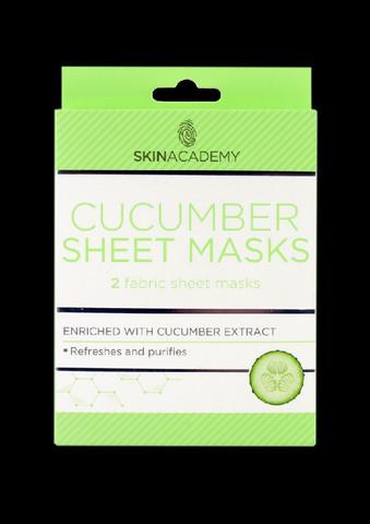 Skin Academy Cucumber Sheet Mask 2 kasvonaamiota
