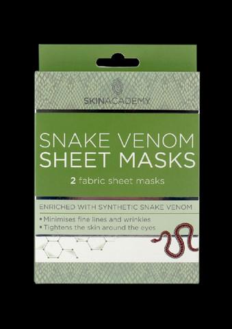 Skin Academy Snake Venom Sheet Mask 2 kasvonaamiota
