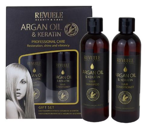 Revuele Argan Oil & Keratin Lahjasetti Shampoo & Hoitoaine 2 x 250ml