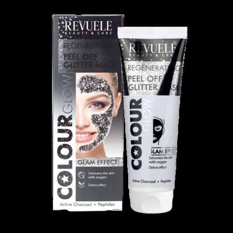 Revuele Peel Off Glitter Mask - Black 80ml