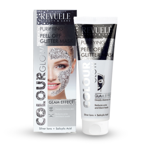 Revuele Peel Off Glitter Mask - Silver 80ml
