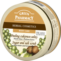 Green Pharmacy Sugar and Salt vartalonkuorinta Shea & Kahvi 200ml