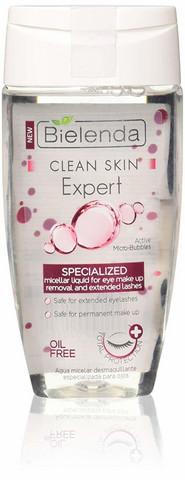 Bielenda Clean Skin exprt silmämeikinpoistoaine ripsienpidennyksille