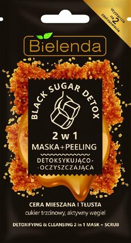 Bielenda BLACK SUGAR DETOX puhdistava ja kuona-aineita poistava kuorinta-naamio 8g