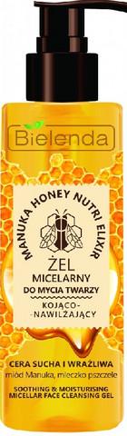 Bielenda MANUKA HONEY NUTRI ELIXIR kosteuttava micellar-kasvojenpuhdistusgeeli 200ml