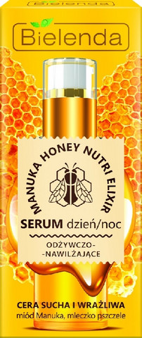 Bielenda MANUKA HONEY NUTRI ELIXIR ravitseva ja kosteuttava hunajaeliksiiri 30ml