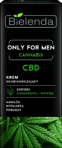 Bielenda Only for men CBD Cannabidiol kosteuttava kasvovoide miehille 50ml