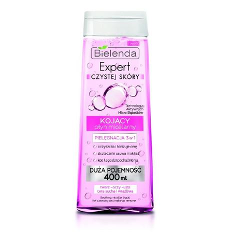 Bielenda Clean Skin expert rauhoittava micellar meikinpuhdistusvesi 400ml