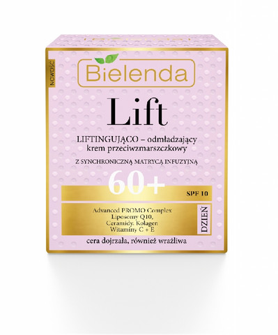 Bielenda LIFT uudistava & liftaava anti-wrinkle päivävoide 60+ SPF10 50ml