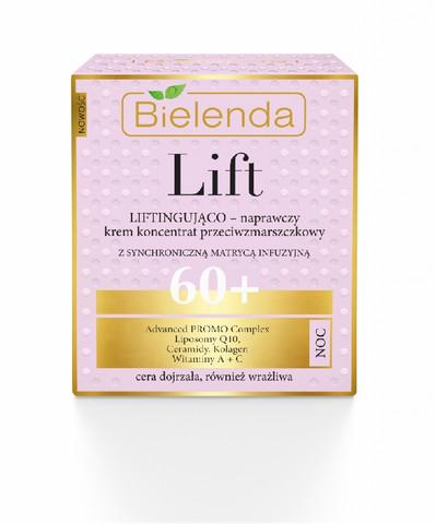 Bielenda LIFT uudistava & liftaava anti-wrinkle yövoide 60+ 50ml