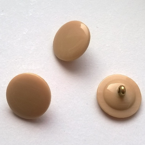 Beige kantanappi, 15 mm