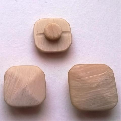 Beige kantanappi, neliskulmainen, 12 mm ja 15 mm