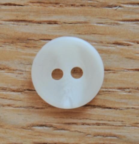 Luonnonvalkoinen paidannappi, 11 mm