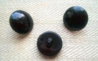 Musta kantanappi koristeellinen, 18 mm