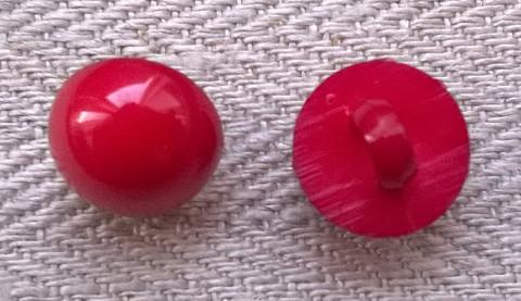 Punainen kantanappi, pyöreä, 11 mm