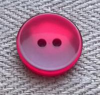 Punainen kiiltävä perusnappi, 17 mm