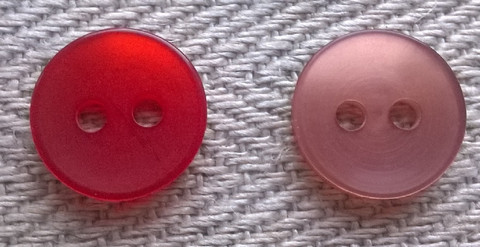 Punainen perusnappi pieni, 11 mm