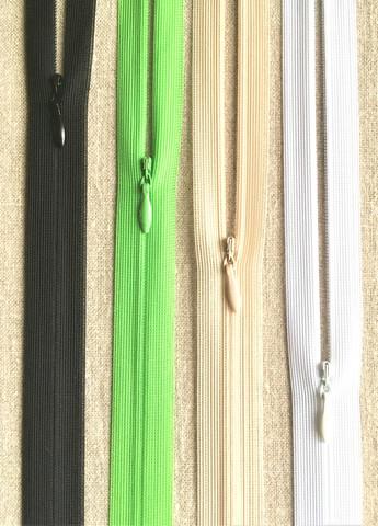 Piilovetoketju 55 cm, 7 väriä