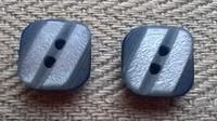 Harmaa koristenappi pieni, 10 mm