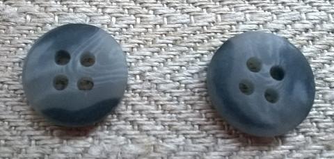 Harmaa perusnappi kirjava pieni, 10 mm