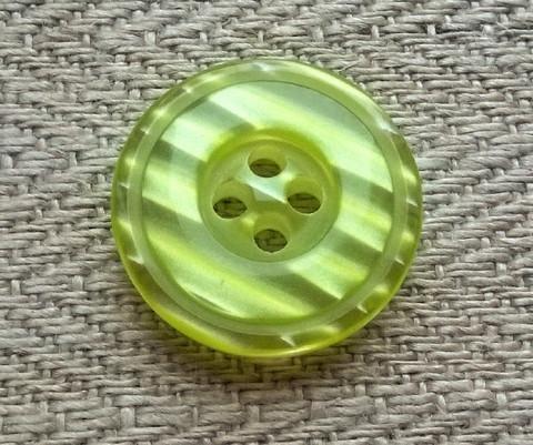 Limenvihreä nappi, 16 mm