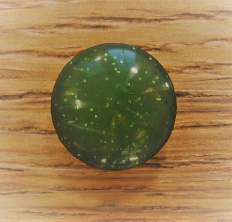 Vihreä kantanappi kimmeltävä, 12 mm
