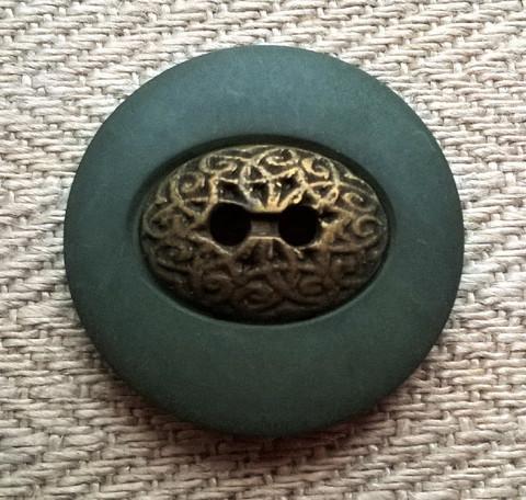 Vihreä takinnappi, 22 mm