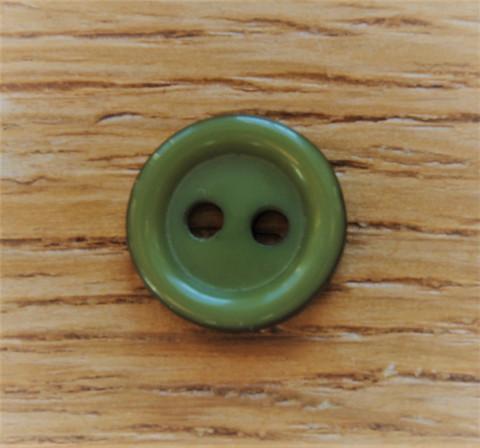 Sammaleenvihreä pieni nappi, 11 mm