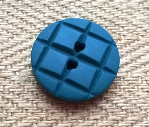 Turkoosi kuvionappi, 14 mm