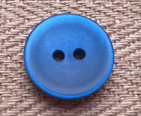 Sininen perusnappi 15 mm