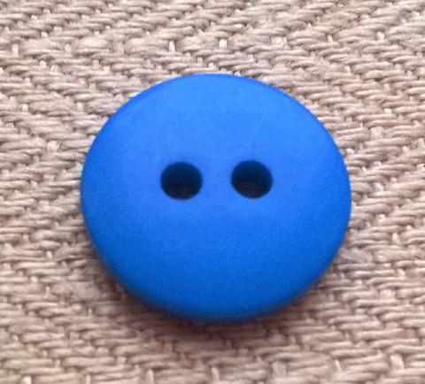 Kirkkaansininen perusnappi 15 mm