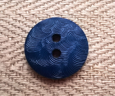 Kirkkaansininen perusnappi kuviollinen 15 mm
